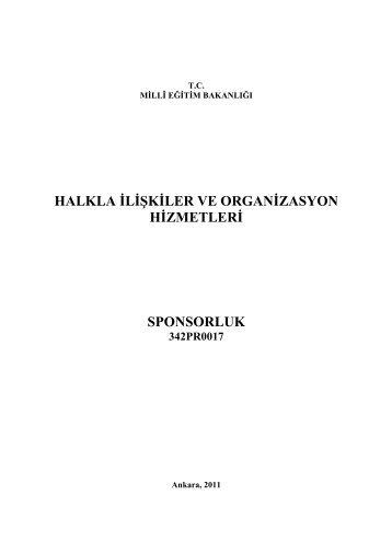 halkla ilişkiler ve organizasyon hizmetleri sponsorluk - Megep