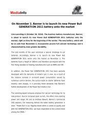 Mediainfo Power Bull GENERATION 2011 GB - Banner Batteries