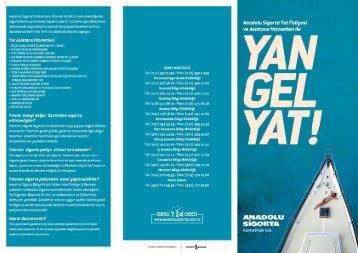 Yat Sigortaları Broşürü - Anadolu Sigorta