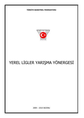 Yerel Ligler Yarışma Yönergesi - Türkiye Basketbol Federasyonu