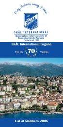 70 1936 2006 SKÅL International Lugano List of ... - Colorado Hotel