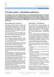 IT-Kosten senken - Arbeitsklima optimieren - BM Office ...