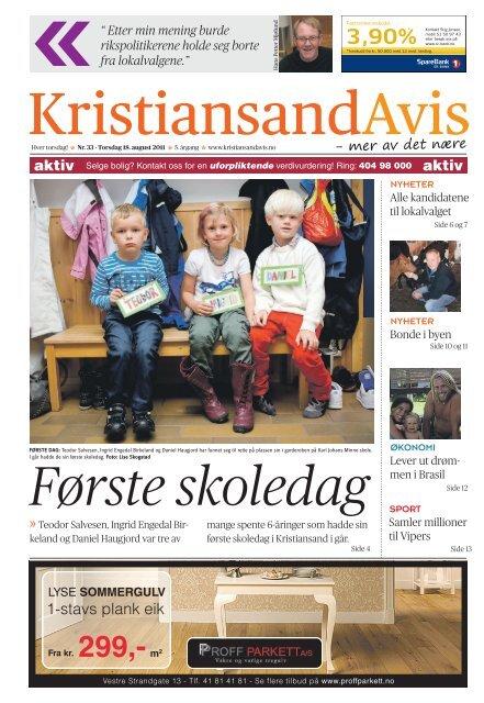 88d6e496 Last ned PDF - Kristiansand Avis