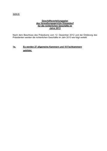 Geschäftsverteilung 2013 in Rechtssachen - Verwaltungsgericht ...