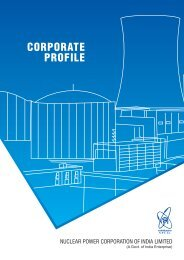 NPCIL Corporate Profile - Nuclear Power Corporation of India Limited