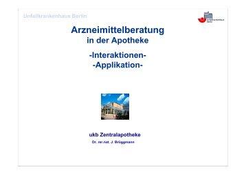 Arzneimittelberatung - Userpage