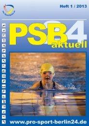 Zeitschrift 1 (Januar-Februar 2013) - Pro Sport Berlin 24 eV