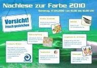 Nachlese zur Farbe 2010 - Josef Kersting GmbH
