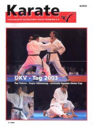 DKV-Magazin Nr. 6 - Chronik des Karate