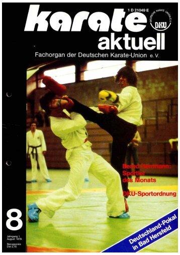 DKU-Nachrichten Nr. 8 - Chronik des Karate
