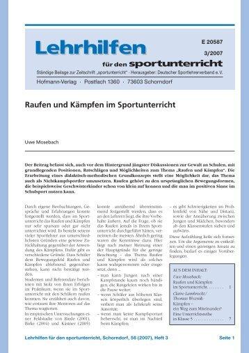 Lehrhilfen Lehrhilfen - Hofmann Verlag