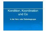 Kondition, Koordination und Co - Herz- und Kreislaufzentrum ...