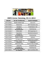 ESPO Arena und Events - Mode Heim Handwerk