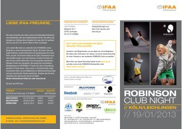 Den Kursplan zur Veranstaltung finden Sie hier - IFAA
