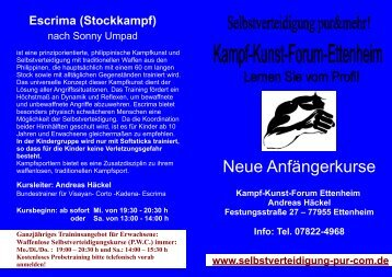 Kampfsport Kindergarten - Andreas Häckel's Selbstverteidigung pur ...