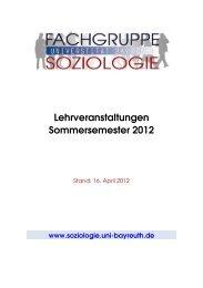 Kommentiertes Vorlesungsverzeichnis SoSe 2012