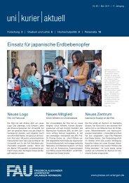 uni kurier aktuell, Nr. 82, Mai 2011 - Friedrich-Alexander-Universität ...
