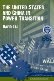 The United States and China in Power Transition - Strategic Studies ...