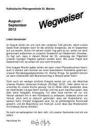 WEGWEISER August September 2012 ... - St. Marien Rheydt