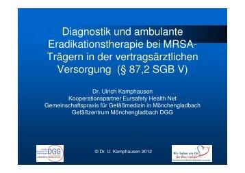 Diagnostik und ambulante Eradikationstherapie bei MRSATrägern in ...