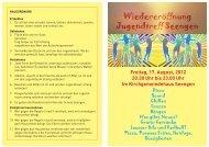 Freitag, 17. August, 2012 20.30 Uhr bis 23.00 Uhr Im - Boniswil