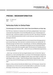 Karlsruhes Kultur im  Online-Fieber (PDF, 54 KB