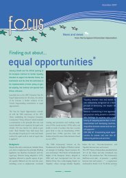 equal opportunities* - The European Information Association