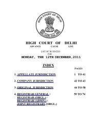 Waiting List of Advocates - Delhi High Court