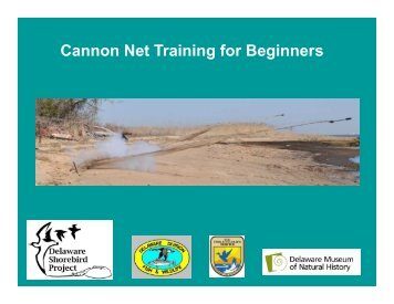 Cannon Net Training Final - Delaware Department of Natural ...