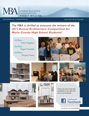 Download the June 4th 2012 Weekly Bulletin to - Marin Builders ...