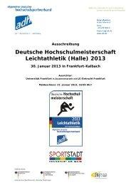 Halle - Allgemeiner Deutscher Hochschulsportverband