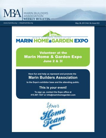 Download the May 28th 2012 Weekly Bulletin to - Marin Builders ...