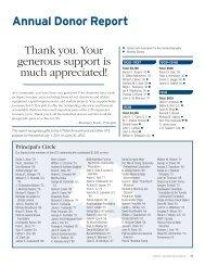 Annual Donor Report - University of Toronto Schools