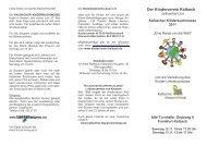 Programm 2011 als PDF zum Download - Kinderverein Kalbach eV