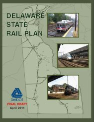 delaware state rail plan - Delaware Department of Transportation