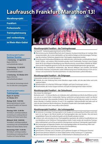 Laufrausch Frankfurt Marathon`13! - BMW Frankfurt Marathon