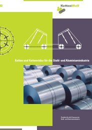 KW Stahl und Aluminium DE.indd - KettenWulf Betriebs GmbH