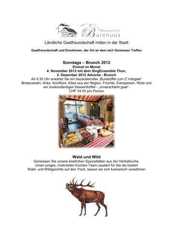 Newsletter 2012 - Restaurant Burehuus