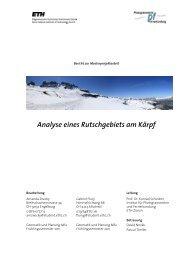 Masterprojektarbeit FS 2011 - IGP - ETH Zürich