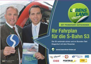 Ihr Fahrplan für die S-Bahn S3 - Kolpinghaus Ferlach: Startseite