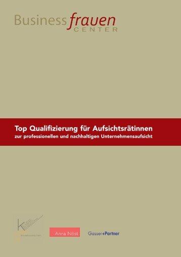 Top Qualifizierung für Aufsichtsrätinnen - Business frauen Center ...