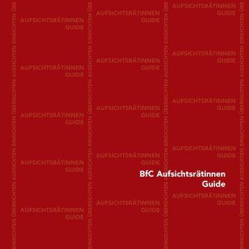 1. BFC Aufsichtsrätinnen Guide - Business frauen Center Kärnten