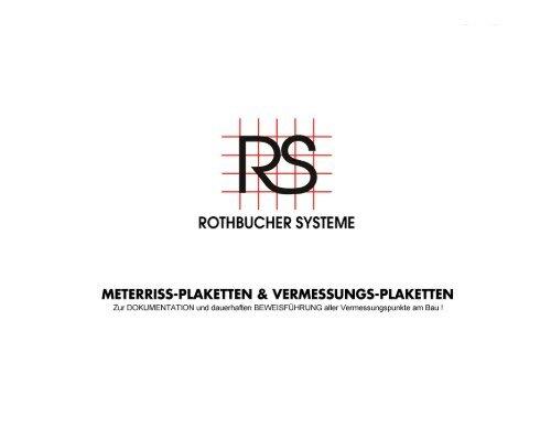 Meterriss RS21 Selbstklebende Plakette zur dauerhaften Sicherung des Meterrisses bis nach den Putzarbeiten