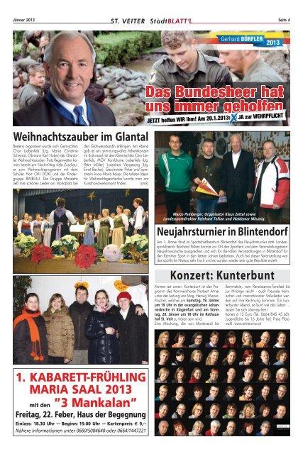 Stadtblattl Ausgabe 12 (PDF-Format, ca. 5,2 - Zentrum Kärnten in ...