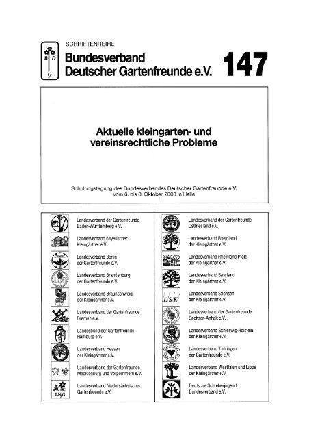 Schriftenreihe des Bundesverbandes - Bundesverband Deutscher ...