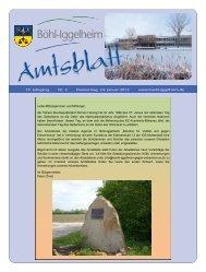 Amtsblatt vom 24.01.2013 (KW 4) - Gemeinde Böhl-Iggelheim