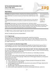 MITGLIEDERVERSAMMLUNG vom 8. Mai 2012 PROTOKOLL ... - zag