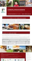 Jahresprogramm ZirbenlandAkademie 2011/2012 (pdf-Datei, 383,48