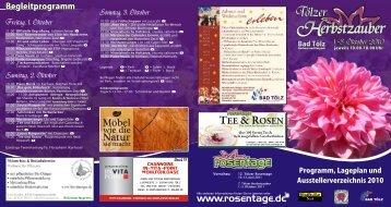 Werbeflyer als PDF-Datei - Tölzer Rosen-und Gartentage