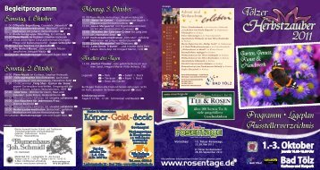 Flyer des Tölzer Herbstzauber ´s - Tegernsee Magazin